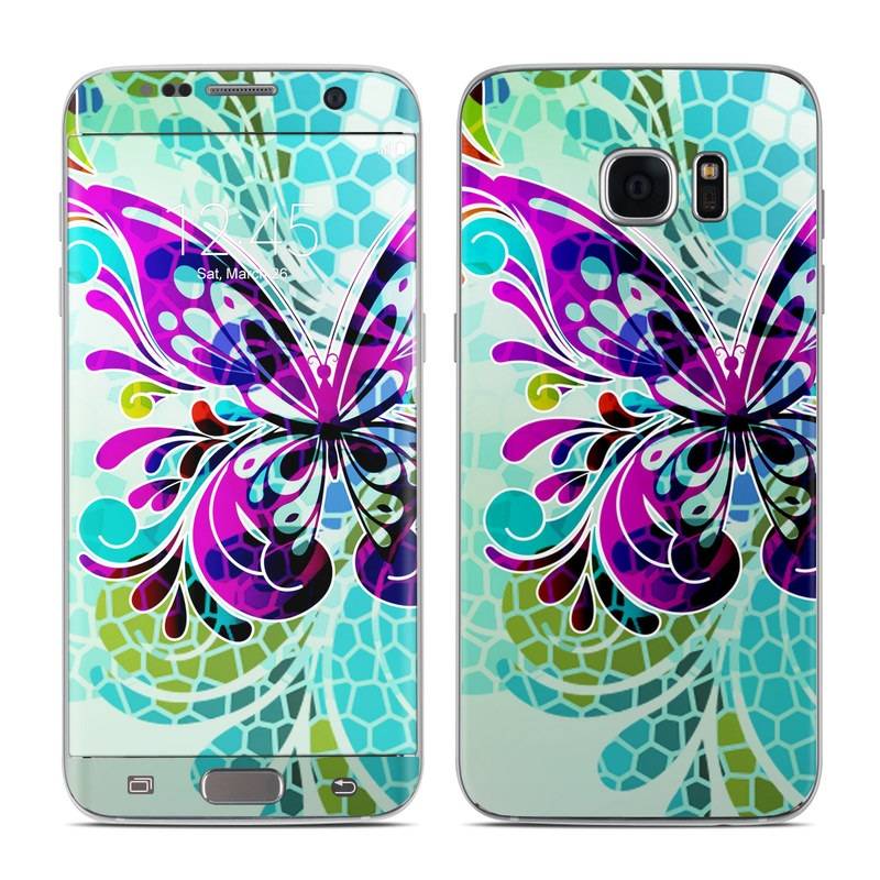 Butterfly Glass Galaxy S7 Edge Skin