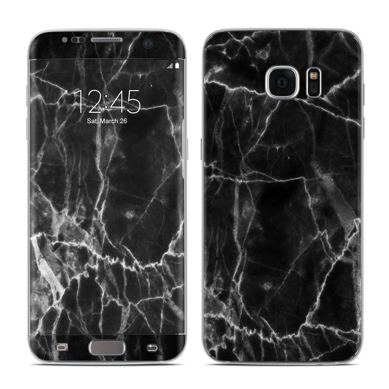 best website a96b5 a20e3 Black Marble Galaxy S7 Edge Skin