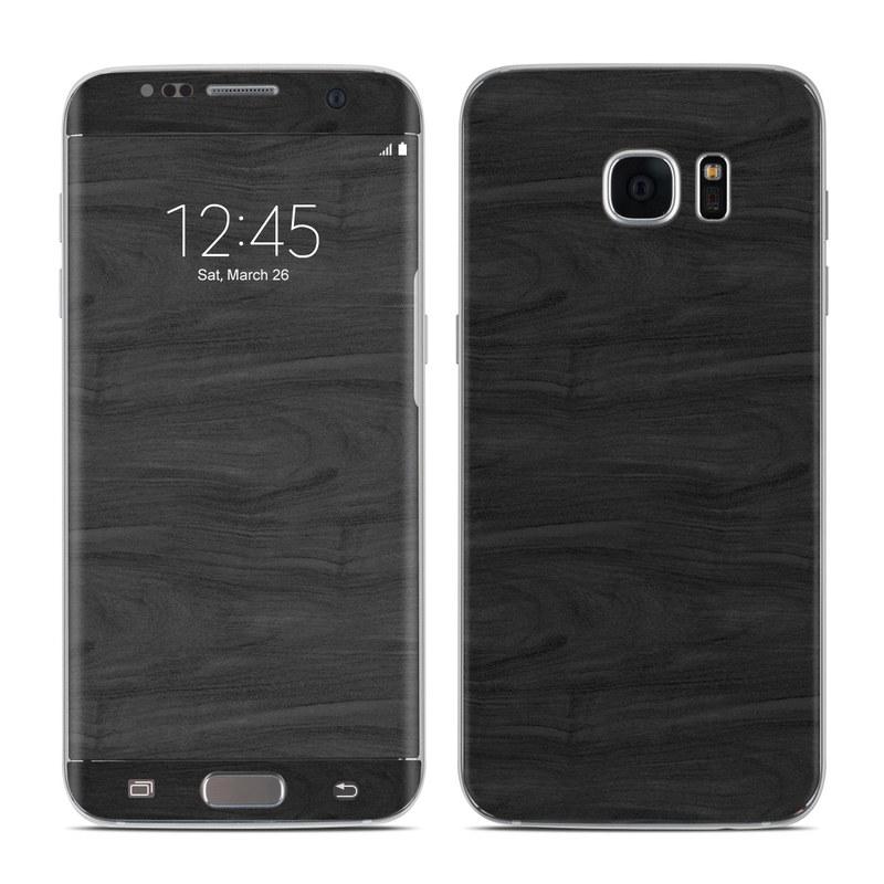 Black Woodgrain Samsung Galaxy S7 Edge Skin