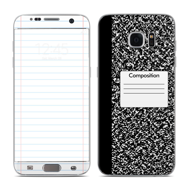 Composition Notebook Galaxy S7 Edge Skin