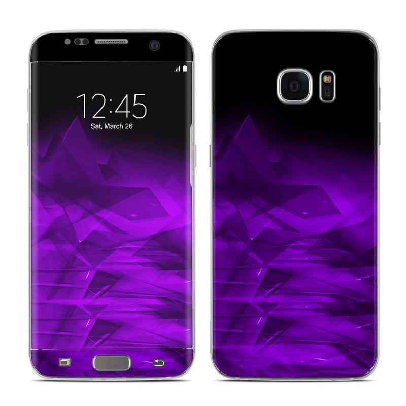 Dark Amethyst Crystal Galaxy S7 Edge Skin