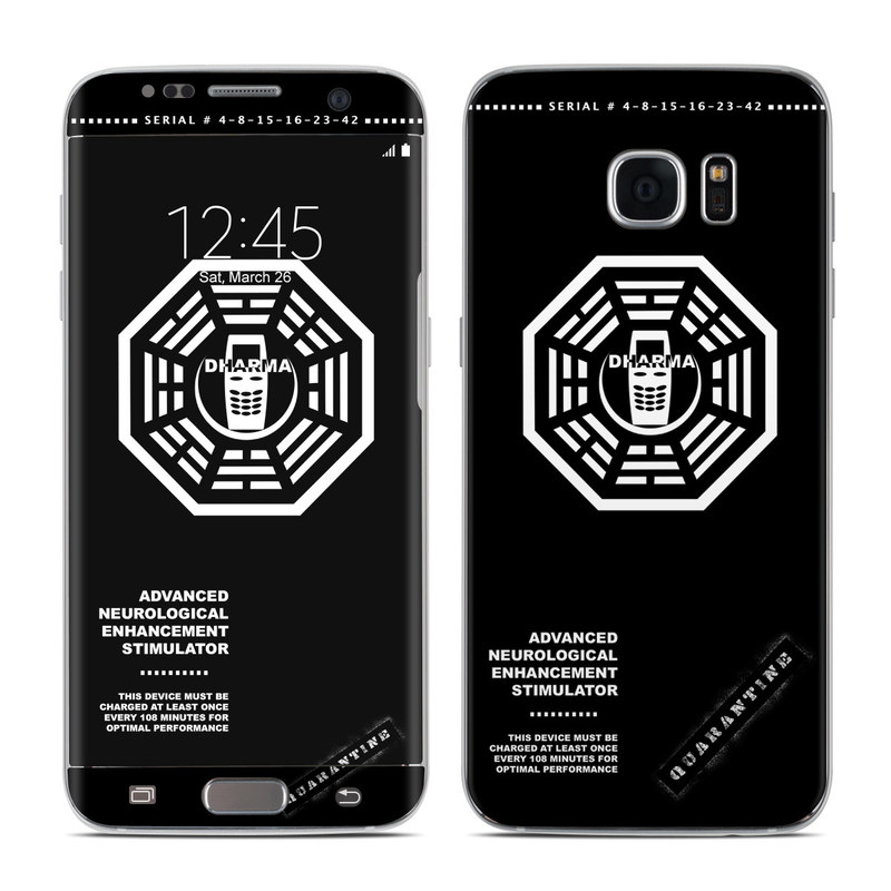 Dharma Black Samsung Galaxy S7 Edge Skin