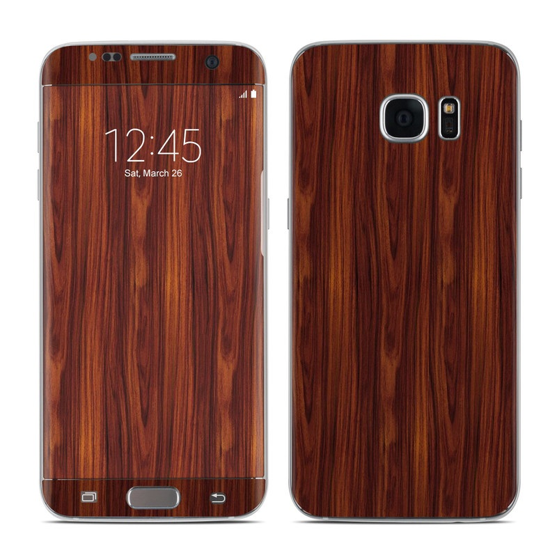 Dark Rosewood Galaxy S7 Edge Skin