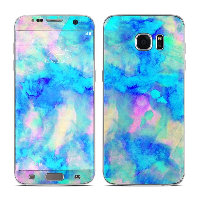 Electrify Ice Blue Galaxy S7 Edge Skin