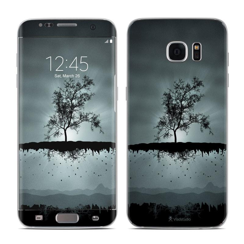 Flying Tree Black Galaxy S7 Edge Skin