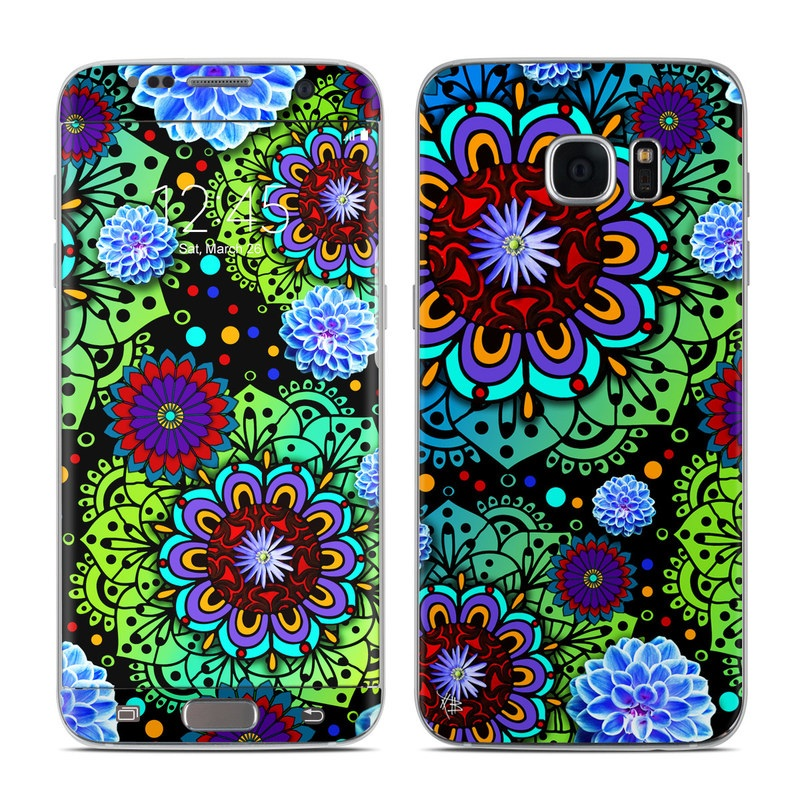 Funky Floratopia Galaxy S7 Edge Skin