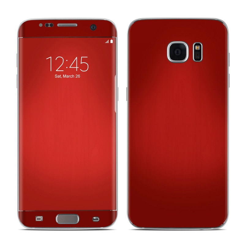 Red Burst Galaxy S7 Edge Skin