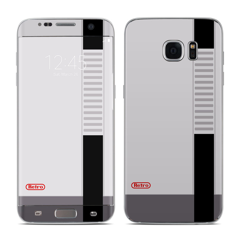 Retro Horizontal Galaxy S7 Edge Skin