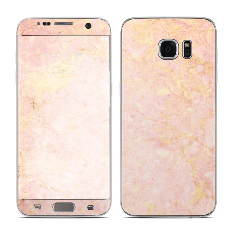 rose gold marble galaxy s7 edge skin istyles. Black Bedroom Furniture Sets. Home Design Ideas
