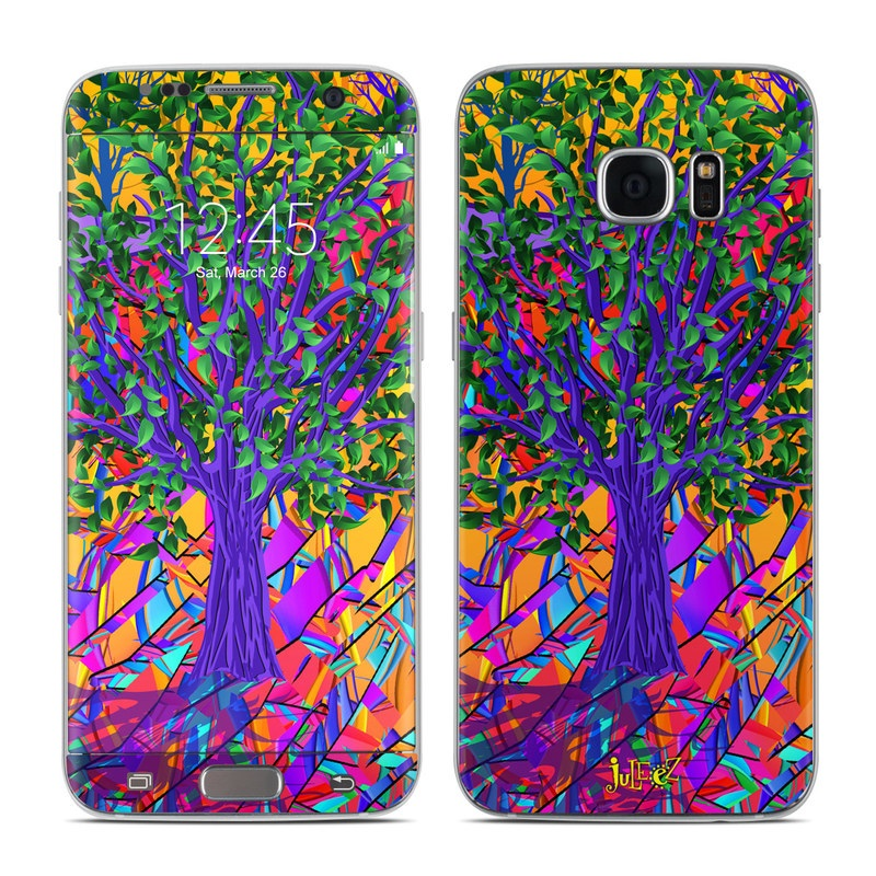 Stained Glass Tree Galaxy S7 Edge Skin