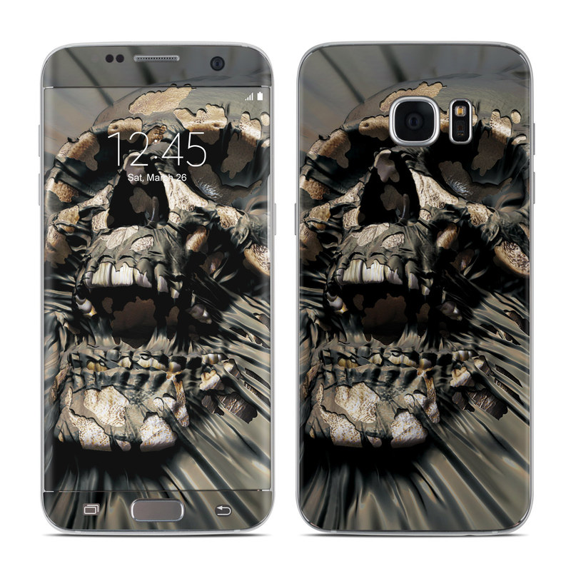 Samsung Galaxy S7 Edge Skin design of Cg artwork, Fictional character, Illustration, Demon, Fiction, Supervillain, Mythology, Art with black, green, gray, red colors