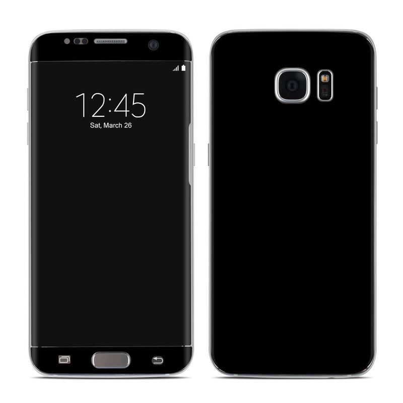 Samsung Galaxy S7 Edge Skin design of Black, Darkness, White, Sky, Light, Red, Text, Brown, Font, Atmosphere with black colors