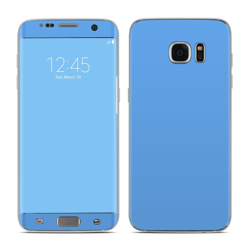 Solid State Blue Galaxy S7 Edge Skin