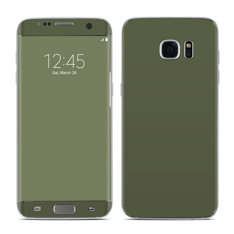 Samsung Galaxy S7 Edge Skin design of Green, Brown, Text, Yellow, Grass, Font, Pattern, Beige with green colors