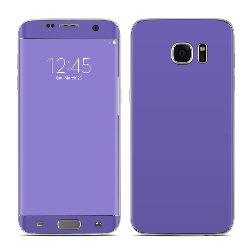 Solid State Purple Galaxy S7 Edge Skin