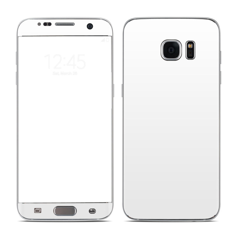 Samsung Galaxy S7 Edge Skin design of White, Black, Line with white colors
