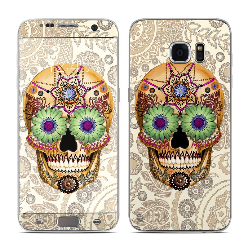 Sugar Skull Bone Galaxy S7 Edge Skin