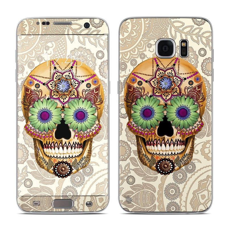 Sugar Skull Bone Samsung Galaxy S7 Edge Skin