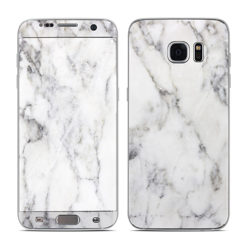 White Marble Galaxy S7 Edge Skin