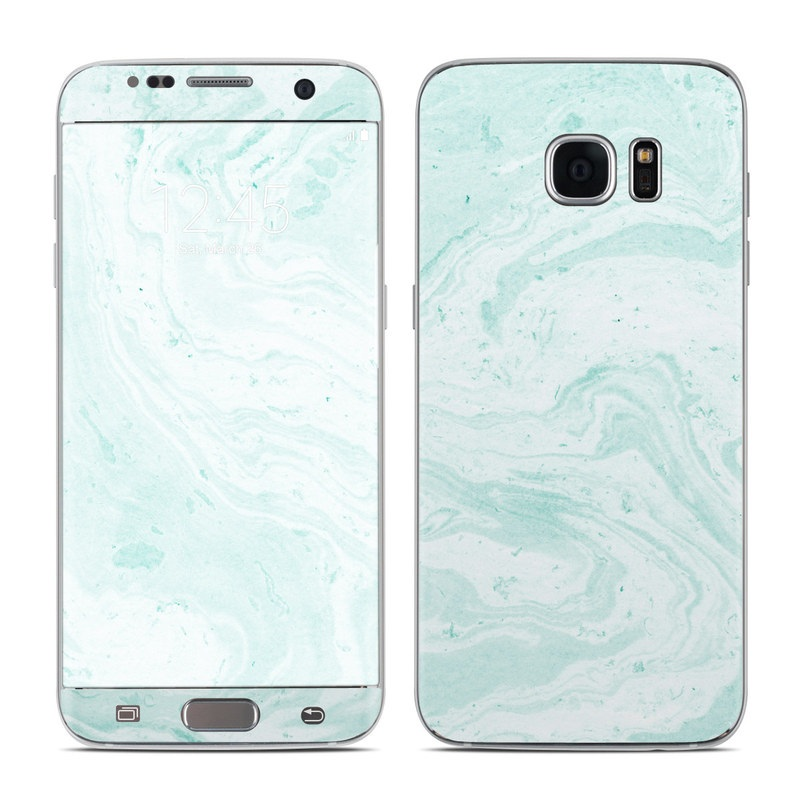 Winter Green Marble Galaxy S7 Edge Skin