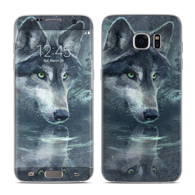 Wolf Reflection Galaxy S7 Edge Skin