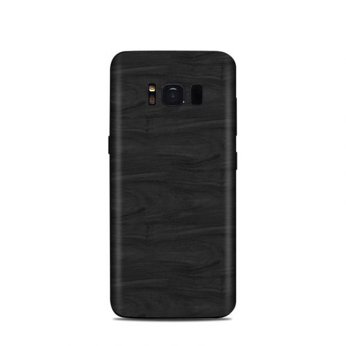 Black Woodgrain Samsung Galaxy S8 Skin