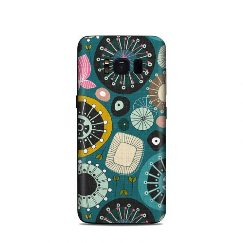 Blooms Teal Samsung Galaxy S8 Skin