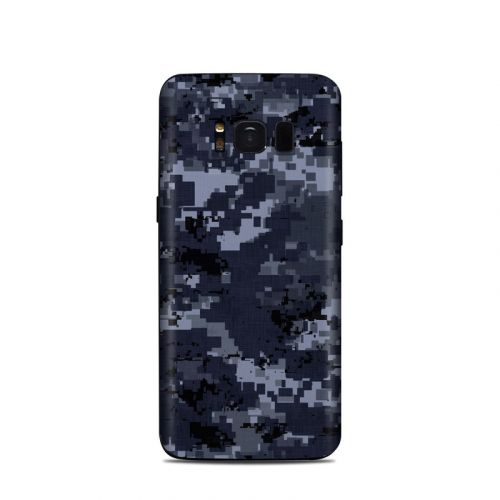 Digital Navy Camo Samsung Galaxy S8 Skin
