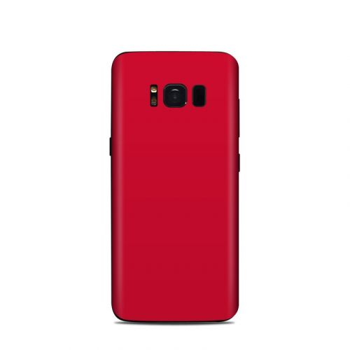 Solid State Red Samsung Galaxy S8 Skin