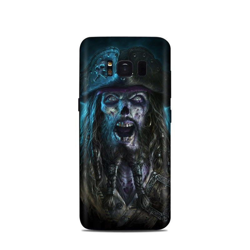 Samsung Galaxy S8 Skin design of Darkness, Illustration, Art, Ghost, Fictional character, Beard with black, white, blue, gray colors