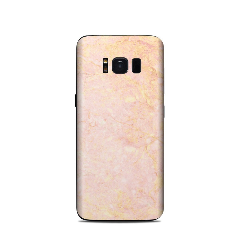 best loved 0b9f0 3fc87 Rose Gold Marble Samsung Galaxy S8 Skin
