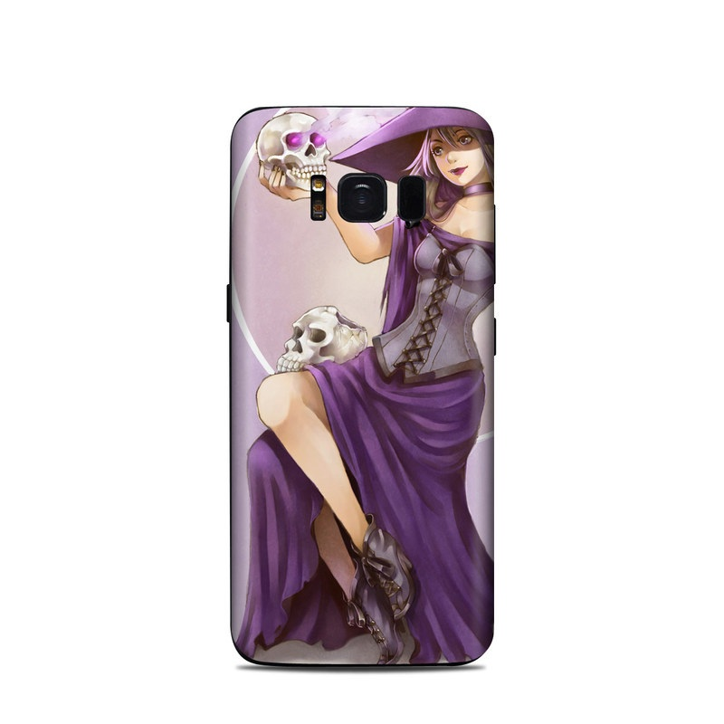 Samsung Galaxy S8 Skin design of Purple, Cg artwork, Violet, Fictional character, Illustration, Anime, Costume design, Woman warrior, Long hair, Mythology with purple, white, yellow, gray colors