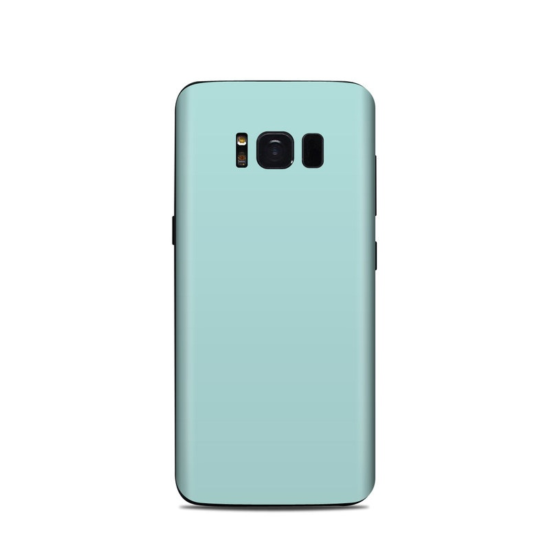 Samsung Galaxy S8 Skin design of Green, Blue, Aqua, Turquoise, Teal, Azure, Text, Daytime, Yellow, Sky with blue colors