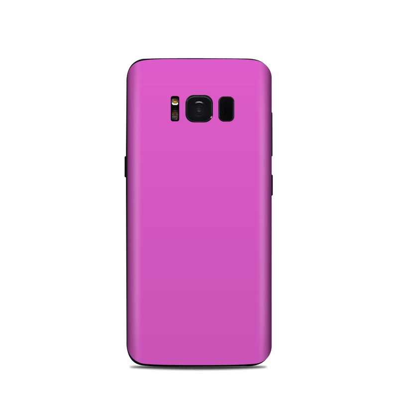 Samsung Galaxy S8 Skin design of Violet, Pink, Purple, Red, Lilac, Magenta, Blue, Lavender, Text, Sky with pink colors