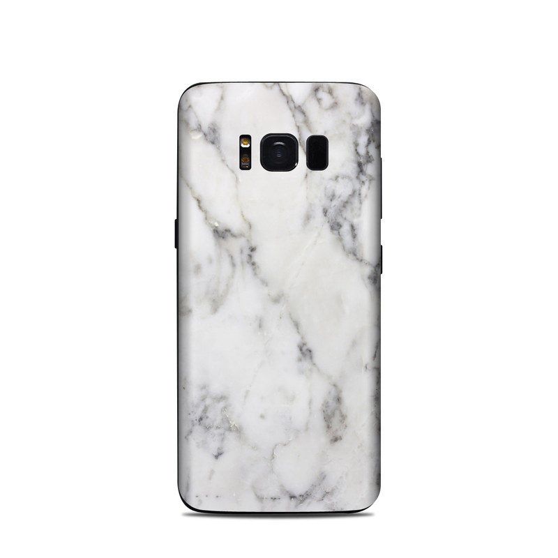 Samsung Galaxy S8 Skin design of White, Geological phenomenon, Marble, Black-and-white, Freezing with white, black, gray colors