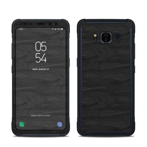 Black Woodgrain Samsung Galaxy S8 Active Skin