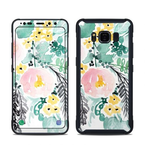 Blushed Flowers Samsung Galaxy S8 Active Skin