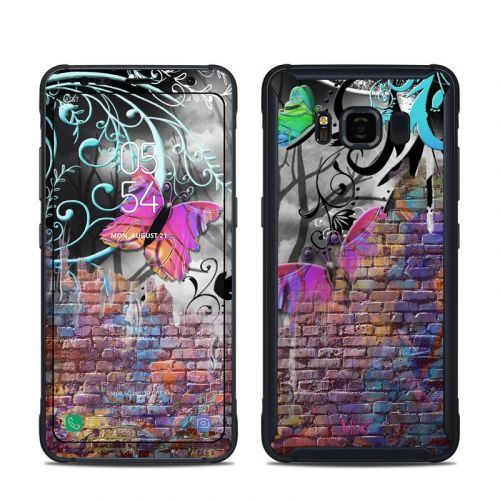 Butterfly Wall Samsung Galaxy S8 Active Skin