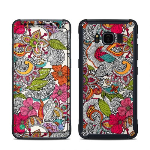 Doodles Color Samsung Galaxy S8 Active Skin