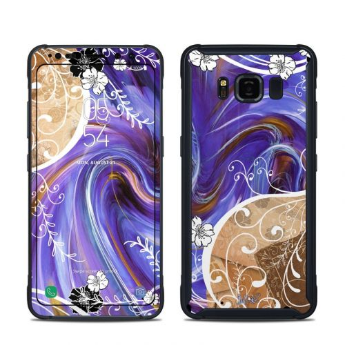 Purple Waves Samsung Galaxy S8 Active Skin