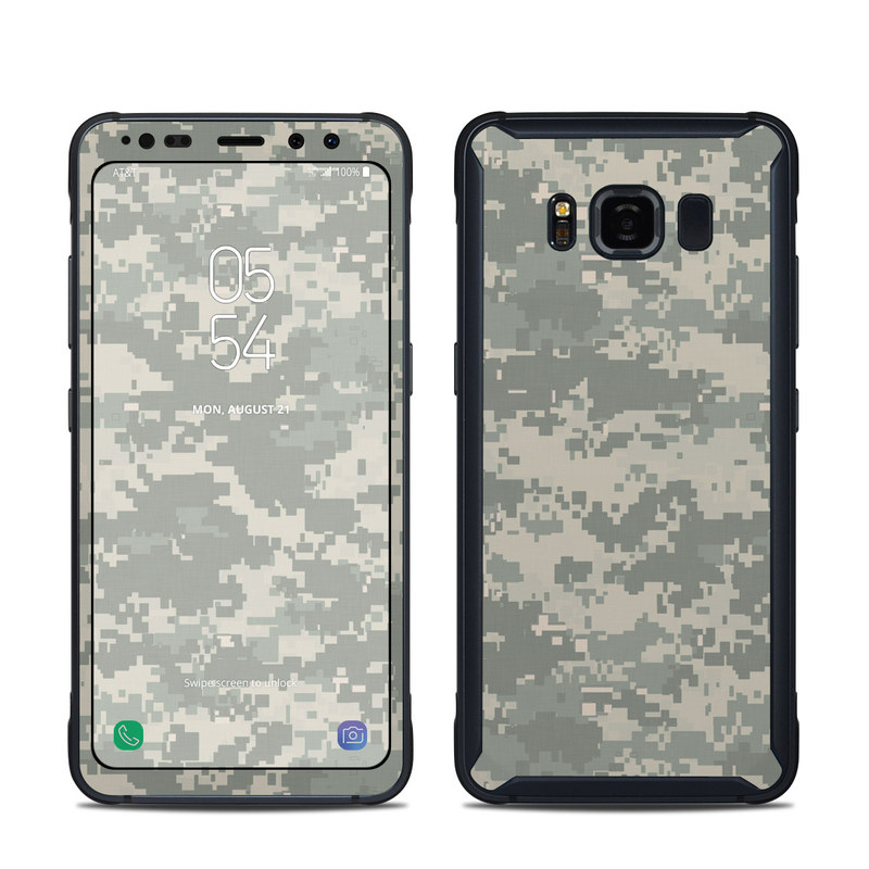 Samsung Galaxy S8 Active Skin design of Military camouflage, Green, Pattern, Uniform, Camouflage, Design, Wallpaper with gray, green colors