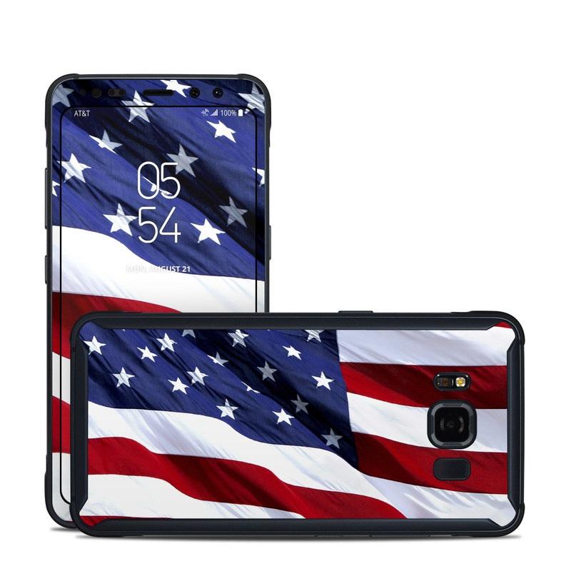 Patriotic Samsung Galaxy S8 Active Skin