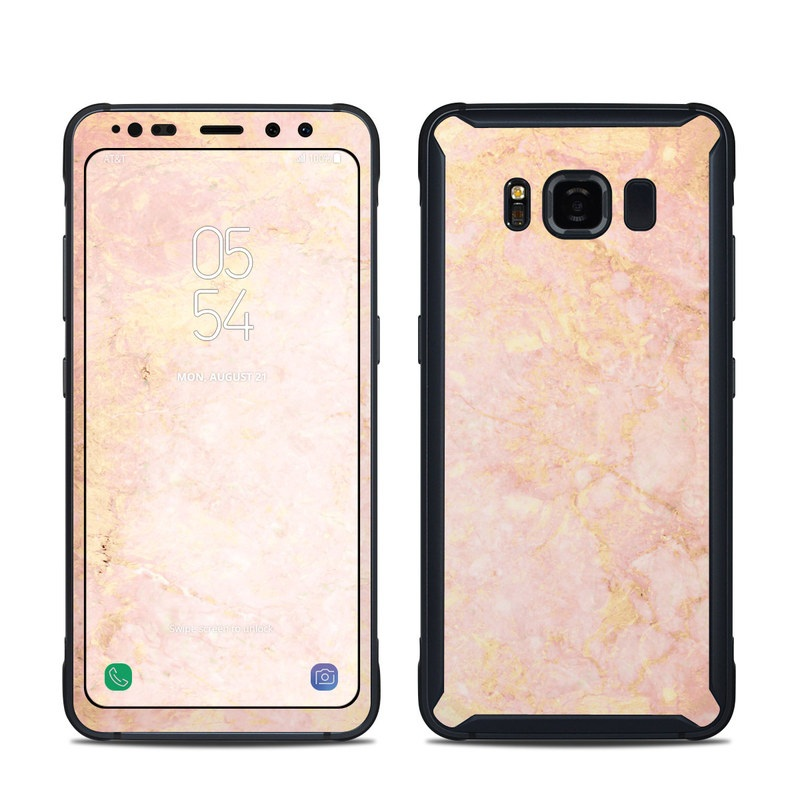 Rose Gold Marble Samsung Galaxy S8 Active Skin