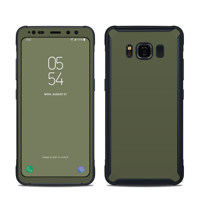 Solid State Olive Drab Samsung Galaxy S8 Active Skin