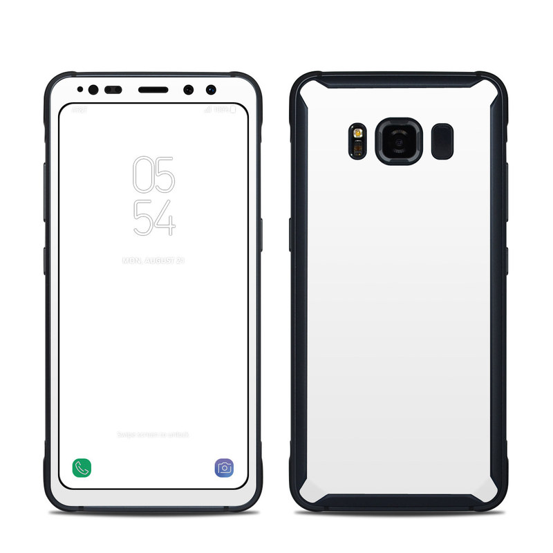 Samsung Galaxy S8 Active Skin design of White, Black, Line with white colors