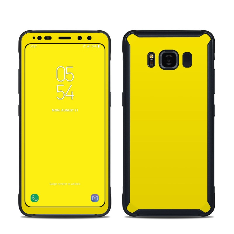 Solid State Yellow Samsung Galaxy S8 Active Skin