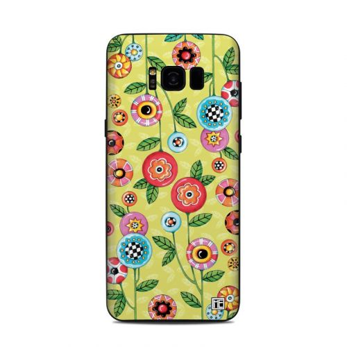 Button Flowers Samsung Galaxy S8 Plus Skin
