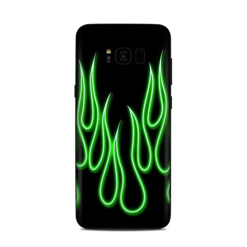 Green Neon Flames Samsung Galaxy S8 Plus Skin