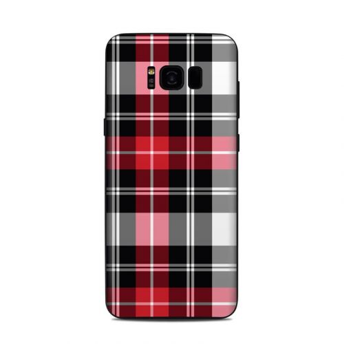 Red Plaid Samsung Galaxy S8 Plus Skin