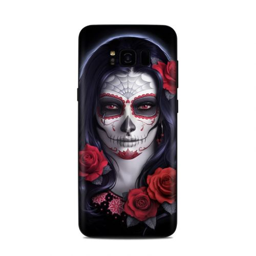 Sugar Skull Rose Samsung Galaxy S8 Plus Skin